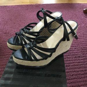 Victoria's Secret Espadrille Sandal Black Size 7
